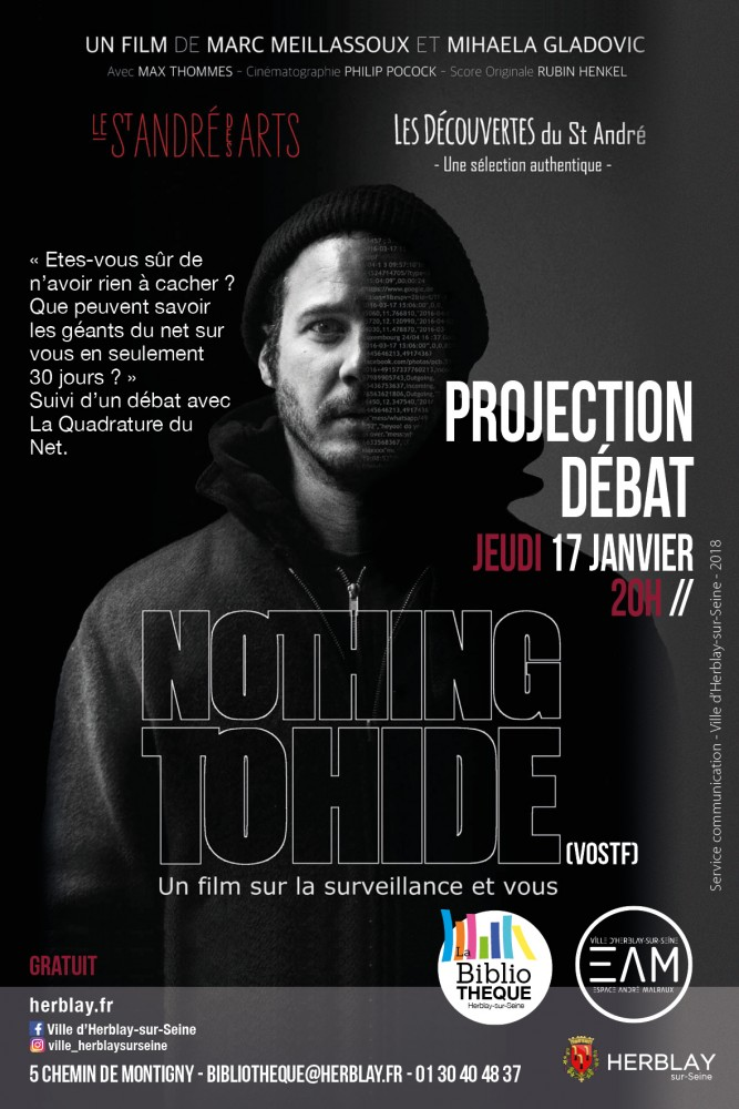 Projection-débat  Nothing to hide (VOSTF)